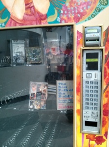 Another project I saw at HTH - a student project to repurpose this vending machine and fill it with student-created literature.