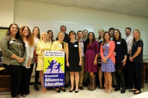 All of the Reaching Out Grant awardees with Executive Director Julie Faryniarz at the Greenwich Alliance Reception